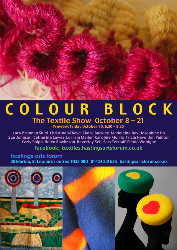 Colour Block exhibition in St Leonard's on Sea