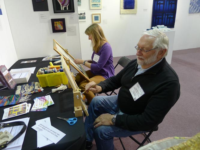 BTG members Jackie Bennett and Roger Dickinson demonstrating